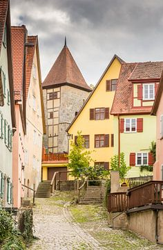 Historische oude binnenstad van Dinkelsbühl van ManfredFotos