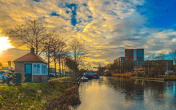Winter in de Piushaven van Freddie de Roeck