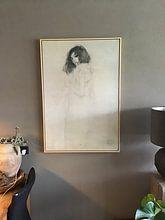 Kundenfoto: Porträt einer jungen Frau, Gustav Klimt, auf leinwand