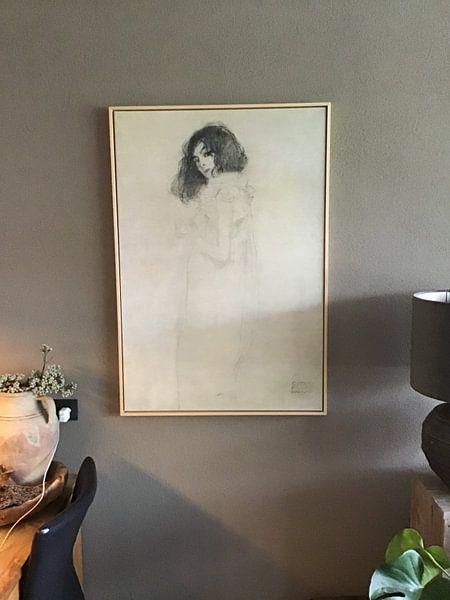 Kundenfoto: Porträt einer jungen Frau, Gustav Klimt
