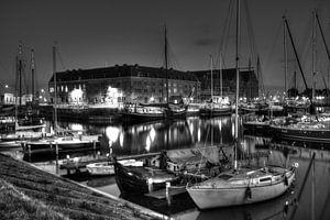 Oostereiland Hoorn zwart-wit