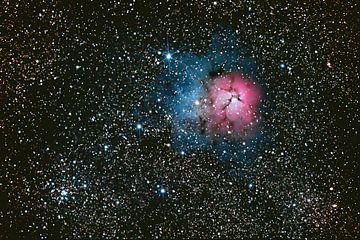 la nébuleuse Trifide - Messier 20 sur Monarch C.