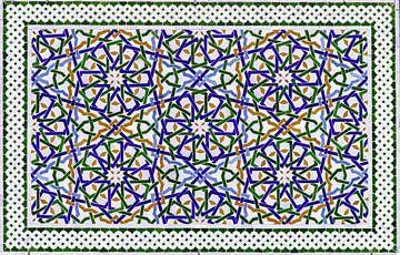 Marokkaans mozaïek, wandpaneel III van Rietje Bulthuis