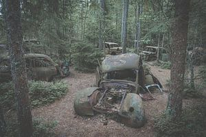 Oldtimer autowrak van Sam Mannaerts
