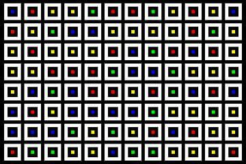 Nested | Center | 12x08 | N=02 | Random #04 | RGBY van Gerhard Haberern