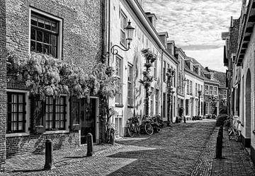 Muurhuizen historisch Amersfoort in zwartwit sur Watze D. de Haan