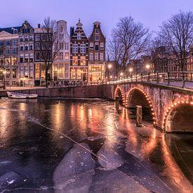 Ijzig Keizersgracht Amsterdam van Dennisart Fotografie