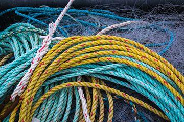 Cordes de navires et filet de pêche sur Rietje Bulthuis