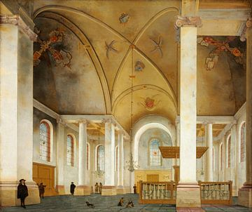 Innenansicht der Nieuwe Kerk in Haarlem, Pieter Jansz. Saenredam - 1653