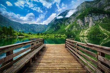 Aan het meer van Bohinj sur