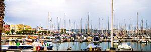 Panorama des Hafens in Lagos, Portugal