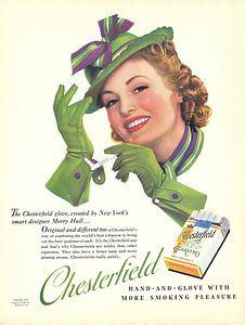 Plakat mit Anzeige für Chesterfield von 1939