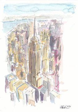 Wolkenkratzer in Midtown Manhattan Wolkenkratzer-Szene New York City von Markus Bleichner