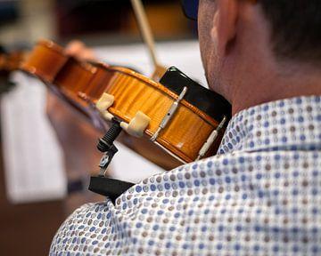 Mann spielt Geige von Wouter Bos