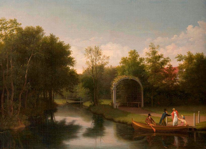 Laube im Park des Gutshofes Sanderumgård, Christoffer Wilhelm Eckersberg von Meesterlijcke Meesters