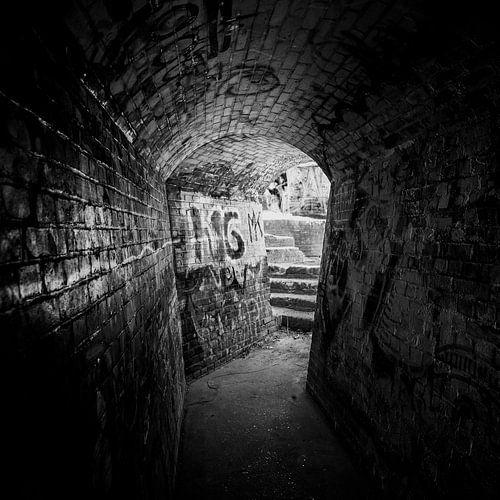 Verlaten tunnel van