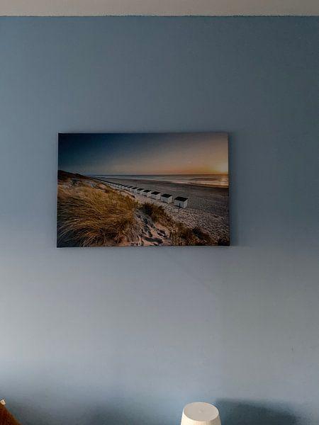 Kundenfoto: Texel, strand bei Paal 17 von Ton Drijfhamer, auf leinwand