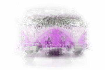 Volkswagen T1 paars van Wim Beunk
