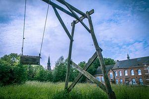 Speeltuin in het verlaten Belgische dorp Doel  van