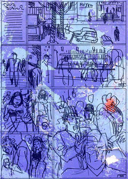 Strip Splinter Goes Urban (Schets p26) van MoArt (Maurice Heuts)