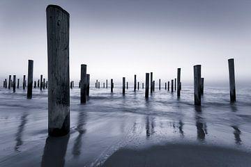 Het markante strand van Petten