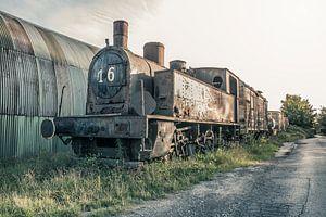 Verlaten Stoom Locomotief van Art By Dominic