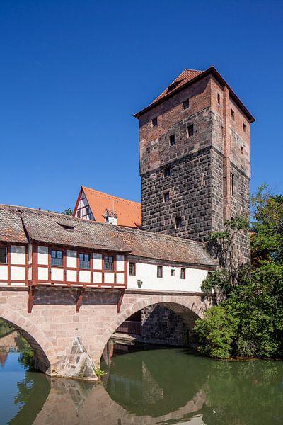 Henkersteg, Altstadt, Nürnberg,  Bayern, Deutschland, Europa von Torsten Krüger