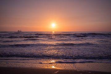 Zonsondergang in Texel van