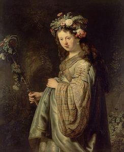 Saskia als Flora - Rembrandt van Rijn