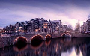 Amsterdam in the evening van Thomas Kuipers