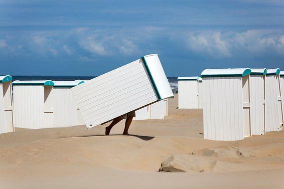 Strandhuisjes bij Katwijk aan Zee