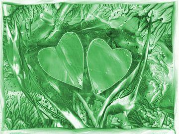 Herzensverbindung - grün van Katrin Behr