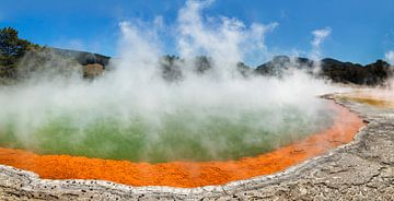 Champagne zwembad, Wai-O-Tapu Thermal Wonderland, Nieuw-Zeeland van Markus Lange