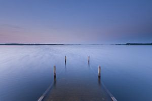 avondstemming aan het water