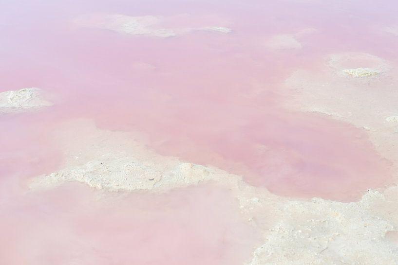 Roze water in het zoutmeer van Torrevieja, Spanje van Anki Wijnen