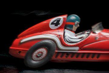 Rode racewagen- 1141 van Rudy Umans