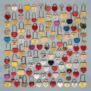 Liefdesslotjes in hartvorm van Floris Kok