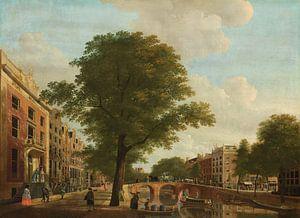 Gezicht op de Herengracht bij de Leidsestraat te Amsterdam, Hendrik Keun