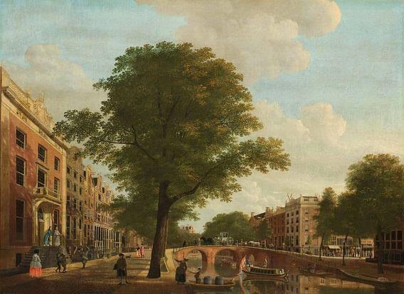 Gezicht op de Herengracht bij de Leidsestraat te Amsterdam, Hendrik Keun van Meesterlijcke Meesters