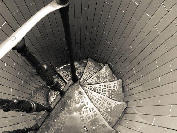 Staircases downwards Cupola (Dome) van Inez Wijker