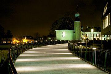 Kasteel Van Coevorden bij nacht van
