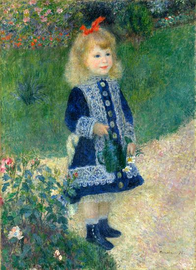 een meisje met een gieter, Auguste Renoir van Liszt Collection