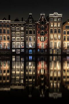 Grachtenpanden in Amsterdam van Manuuu S