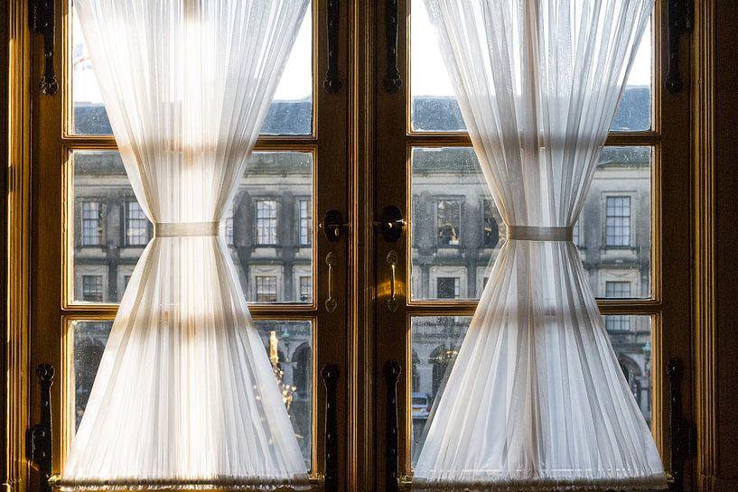 Uitzicht op het binnenhof van Alain Dacier