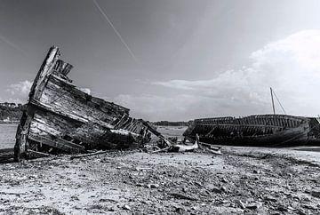 Scheepswrak Saint Malo - Bretagne (Frankrijk) van Marcel Kerdijk