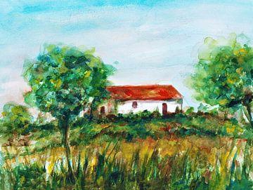 Einsames kleines Bauernhaus in Portugal. von Ineke de Rijk