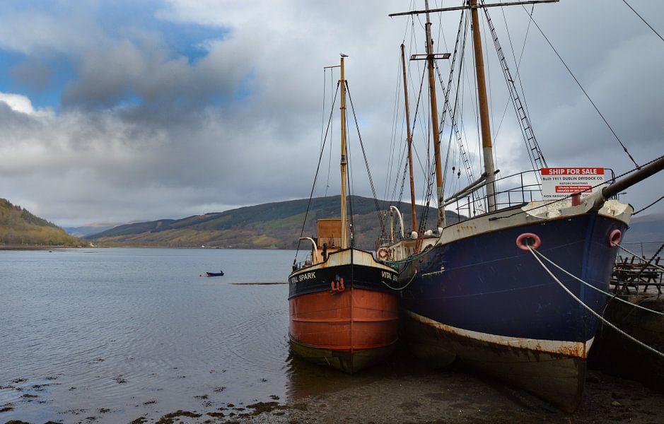 De haven van Inveraray-Schotland