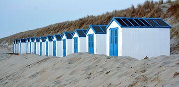 Strandhuisjes op Texel van Ronald Timmer