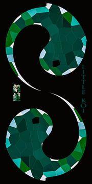 Yin en Yang - Koi karper van Christine Nöhmeier