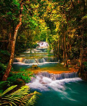 Huai Khamin Wasserfall in Thailand von Niels Tichelaar
